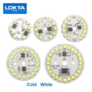 10PCS / LOT Integrated Driver de LED Chip SMD Para Bulb 220V Input diretamente com IC inteligente DIY 3W 5W 7W 9W 12W Downlight Spotlight