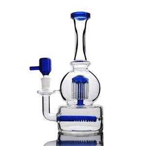 """Acqua vetro bong tubo riciclatore olio rig dab rigs 9 """"alto blu robusto solido inebriante di vetro 14mm giunto diffuse braccio albero perc spedizione gratuita"""