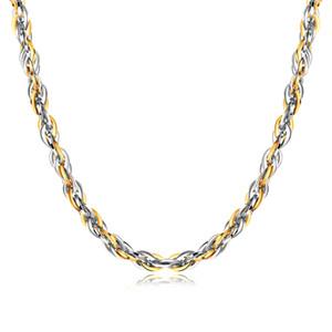 Personalità 5.8mm / 8.5mm in acciaio inossidabile Mens Womens collana Twist corda catena Mens Womens Jewelry 21,6 pollici gioielli di moda
