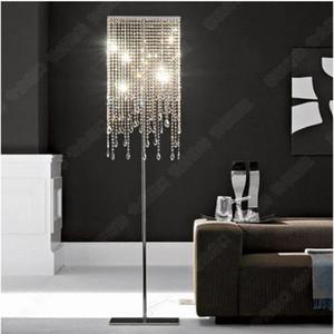 Modern Lüks Kristal Oturma Odası Zemin Lambaları Yatak Odası Bedsides Kare Krom Taban zemin ışık Yemek Odası Çalışma Odası Zemin Lambaları