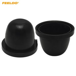 FEELDO 2PCS LED auto HID faro impermeabile antipolvere copertura in gomma 70mm-83mm anti-polvere tappo faro di tenuta # 5592