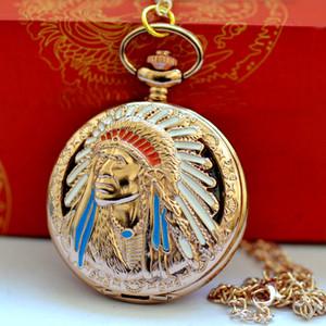 Großhandelsquarz der Inder 100pcs / lot passt Halskette Ketten-Taschenuhren PW084 auf