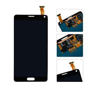 100 ٪ اختبار سوبر AMOLED LCD لسامسونج ملاحظة 4 N910 N910A N910F Note4 شاشة LCD تعمل باللمس محول الأرقام الجمعية ملصقا