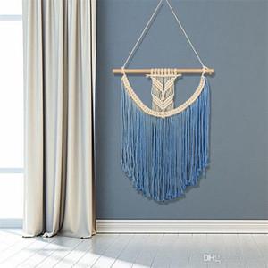 Tapestry Bohemia Weave murale Soft Touch casa appeso ornamenti divano letto a mano sfondo arazzi in cotone fashion design 42sj ZZ
