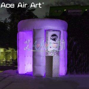 Barracas insufláveis da estação de festas insufláveis, cobertura de led com bancas amovíveis para promoção