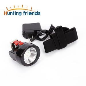50pcs / lot caça Amigos Mining Farol KL2.8LM lanterna recarregável Farol Mining Cap Luz Waterproof Capacete Lamp LED Farol