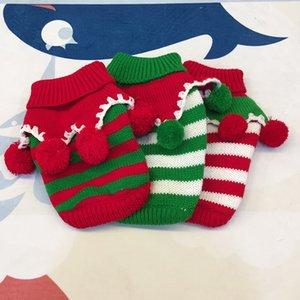 Pet собака одежда красочные Рождество свитер платье зима теплая одежда для собак Pet три цвета собака свитер одежда