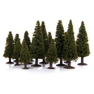 15 Stück Green Scenery Landschaft Modell Cedar Trees mit PV-Box 1/100 1/150 1/200
