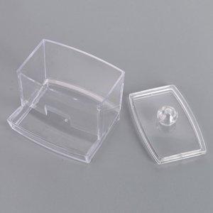 Caso della scatola del supporto di immagazzinaggio del bastone dei tamponi di cotone chiari - caso acrilico trasparente dell'organizzatore di trucco cosmetico di alta qualità