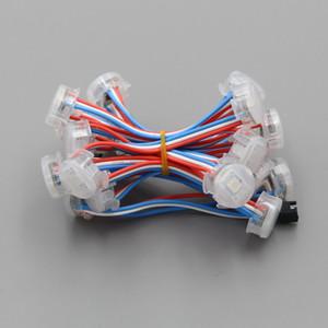 adressable DC5V 20mm WS2811 привело пиксельный модуль света, цифровой полноцветной 5050 SMD RGB LED Light, 50modules / строка, DC5V вход, водонепроницаемый IP68