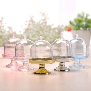 Plastik şeffaf meyve tepsisi için temizle ambalaj lamba kapağı şekilli şeker kutusu düğün ziyafet parti hediye kutusu LX3932