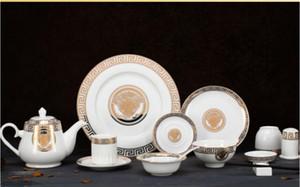 8 pcs / set assiette de fruits ronde créative plats en céramique HomeHotel Vaisselles Vaisselle cadeau vaisselle