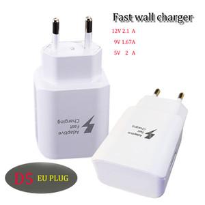 Adaptador de viagem do carregador rápido D5 9V / 1.67A 5V / 2A Adaptador de CA de carga USB da UE para Samsung HTC Blackberry Smart Cellphone