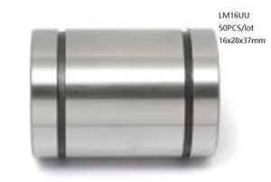 50 pz / lotto LM16UU 16mm cuscinetti a sfere lineari boccole scorrimento lineare cuscinetti di movimento lineare parti della stampante 3d router di cnc 16x28x37mm