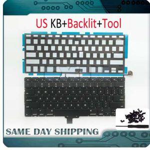 """NOUVEAU pour Macbook Pro 13 """"Unibody A1278 Keyboard US USA anglais + rétro-éclairage rétro-éclairé + jeu de vis 2009 2010 2011 2012 année"""