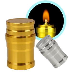 Équipement de laboratoire portatif de laboratoire de lampe d'alcool de mini en métal chauffant des réchauds liquides pour la survie en plein air Camping randonnée voyageant sans alcool