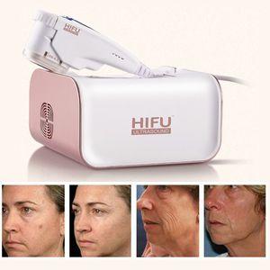 Extracción de arrugas portátil HIFU Lifting facial Ultrasonido enfocado de alta intensidad Mini máquina HIFU