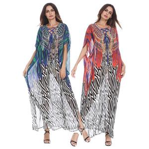 Абая Плюс Размер Шифон Мусульманское Платье Цветок Исламский Хиджаб Платье Одежда Высокое Качество Дубай Мусульманский Абая Платье Для Женщин