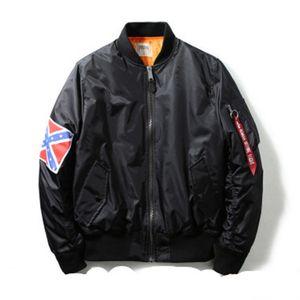 MA1 Homens Bomber Bandeira Guerra Piloto Jackets American Civil Hip Hop Masculino Jacket Coats Moda Outono Inverno S-XL