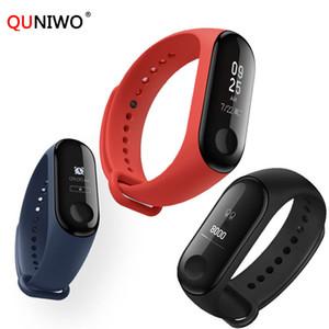 Neue Mi Band 3 Smart Armband Fitness Armband Wasserdicht bluetooth Männer Touchscreen OLED Nachricht Herzfrequenz Zeit Smar twatch M3