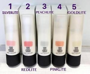 새로운 핫 브랜드 Concealer 5colors 스트로브 크림 50ml Concealer 파운데이션 형광펜 액체 메이크업 DHL 배송