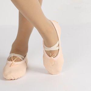 مضخات الاطفال حيد لينة الباليه أحذية اصبع القدم الفتيان الفتيات ممارسة الباليه أحذية الرقص أحذية الرقص القماش للطفل الاطفال الصغار الكبار 3-16T