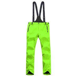 Ski Pants Men Winter Skiing Bib Pants Snowboard Mountain Snow Pant Male Outdoor Sport Trousers Waterproof Windproof Thermal