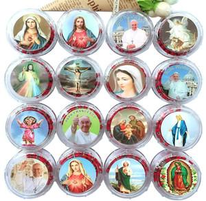 Religiöse Schmuck Red Aroma Holz Bead Kette katholischen Gebetskette Kruzifix Kreuz Anhänger Rosenkranz Halskette Weihnachten Ostern Geschenke