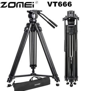 Venda Por Atacado vt666 profissional tripé de vídeo da câmera com 360 graus de fluidos panorâmica para dslr filmadora vídeo, dv, fotografia