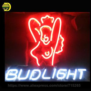 Entrar Bud Light MULHERES Neon Handmade neon luz adorno Decore bar de cerveja Arte Neon Lâmpada Limpar Conselho lâmpada Artwork personalizado