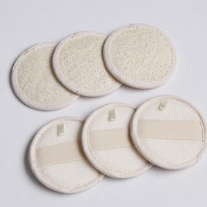 8 * 8 cm Forma Redonda Natural Loofah Pad Loofah Esponja Baño Ducha Cara Cuerpo Exfoliante Baño