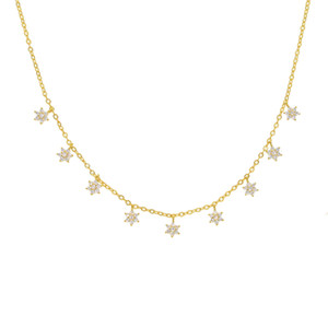Boho Chain Tiny Star nappa Collana girocollo per donne Bijou Collane Pendenti Colletto semplice Boho Layering chocker collane