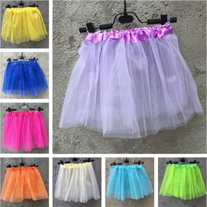 Venta caliente color puro niños burbuja falda niñas encaje princesa falda ballet realizar danza falda T3I0198