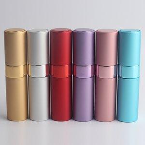 Горячие бутылки духов алюминиевых Чонсервных Банк формы губной помады 200Pcs/Llot 8ML, бутылки портативного брызга пустые, 6 цветов опционных. Бесплатная доставка