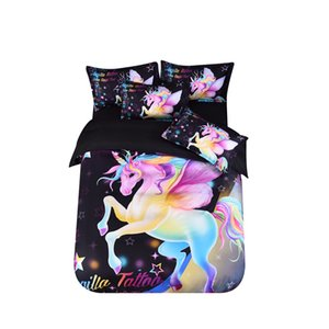 Fanaijia unicorn bedding Sets king size 3d Starry sky Duvet Cover set with pillow case twin size bedline bed sets