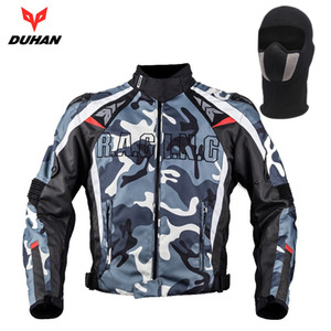 DUHAN Erkekler Oxford Kumaş Motosiklet Ceket Motokros Off-Road Yarışları Ceket Kamuflaj Muhafızları Giyim Blouson Moto, D-117
