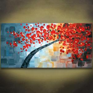 1 패널 팔레트 나이프 회화 Morder Wall Art 캔버스 대형 유화 Hand Painted Home Wall Art 그림 Unframed