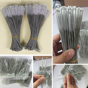 Stainless Steel Drinking Straws Cleaning Brush Pipe Tube Baby Bottle Cup Reusable Household Cleaning Tools 175*30*5mm HH7-1071