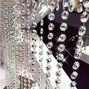 10pcs 14 milímetros Crystal Clear Acrílico Bead Garland Strand cadeia pendurado Diamante decoração do casamento Bead