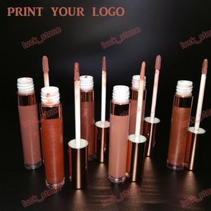 Derin cilt fastic uygun hiçbir logo 6 renk Dudak Parlatıcısı uzun boy tüp 3 mat 3 pırıltılı nemli Dudak Balsamı logonuzu yazdırın