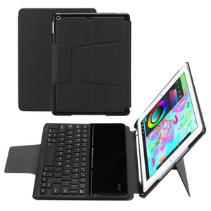 For iPad 9.7 2018 Case with Pencil Holder -Wireless Bluetooth Keyboard Cases with Auto Wake Sleep for Apple iPad 2018 9.7""