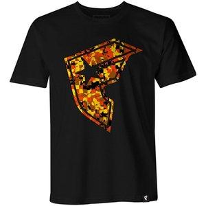 Famoso Estrelas e Camo de Homens Correias Verifique BOH Camiseta Preto Laranja Camo Roupa 2018 Últimas Homens T-Shirt Imprensa Moda