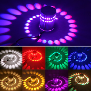 RGB LED настенные светильники Потолочные светильники IR Remote Поверхностный 3W Wireless Hole Установить Диммируемый украшения стены лампы Оптовая