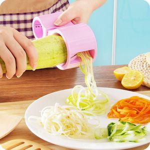 Calidad superior Dual Spiral Vegetal Cutter Zucchini Noodle Pasta Ribbon Spaghetti Slicer Herramienta de cocina útil Cheap Stylish