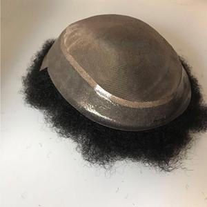 Brasilianisches Haar Afro-Mann Toupet, Haar replacementment, Toupee des menschlichen Haares, feines mono mit Hautunterseite geben Verschiffen frei