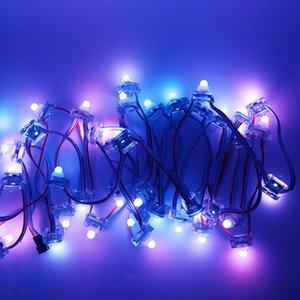 Umlight1688 Node 12MM Digitales RGB Quadrat WS2811 IC Pixel Modul String 5V Wasserdicht 2811 Individuell adressierbares Licht