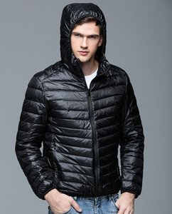 Chaqueta de plumas de invierno para hombre Ultralight Down Coat Hooded 90% White Duck Down Jacket Outwear Parkas UHLULC Y181101