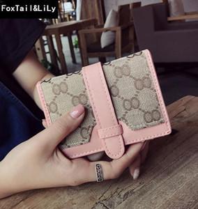 Fabbrica del sacchetto di vendita diretta delle donne classica stampato tela portafoglio breve procedura dettagliata in pelle di colore borsa portafogli della lettera di modo multifunzionale