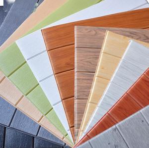 Estéreo 3d pegatinas de pared de grano de madera wallpaper autoadhesivo cálido salón dormitorio decoración de la pared pegatinas a prueba de agua creativas