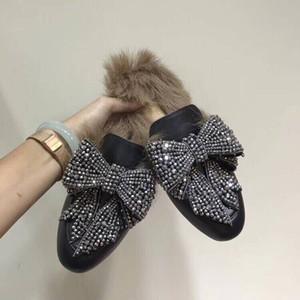 Дизайнерская обувь 2018 зима меховые тапочки женщины вождения мокасины натуральная кожа мода мокасины вышивка медведь тигр цветок EU34-43